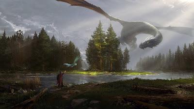Fantasy Dragon art wallpaper