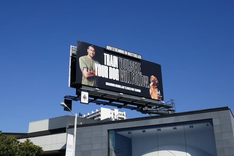 MasterClass dog training billboard