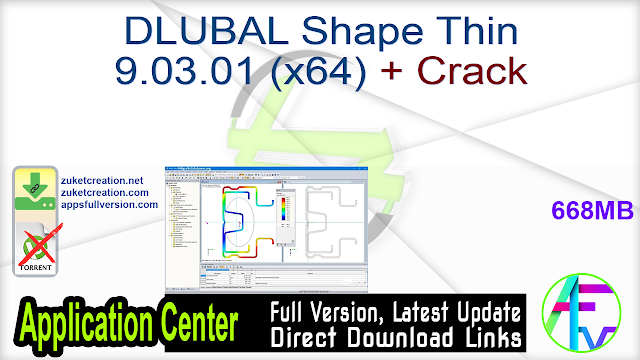 DLUBAL Shape Thin 9.03.01 (x64) + Crack