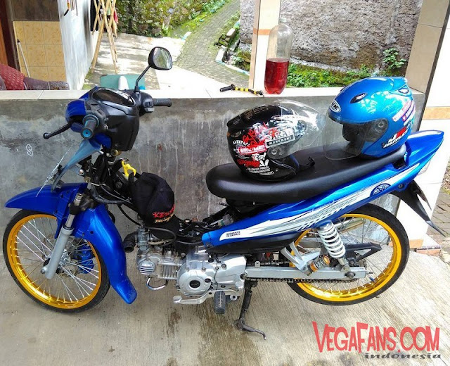 Modifikasi Jupiter Z Biru Modif Simple