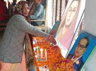 देश की प्रथम महिला शिक्षिका राष्ट्रमाता सावित्रीबाई फुले का मनाया गया 190 वां जन्मदिन | #NayaSaberaNetwork