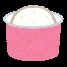 アイスクリームのイラスト(カップ)