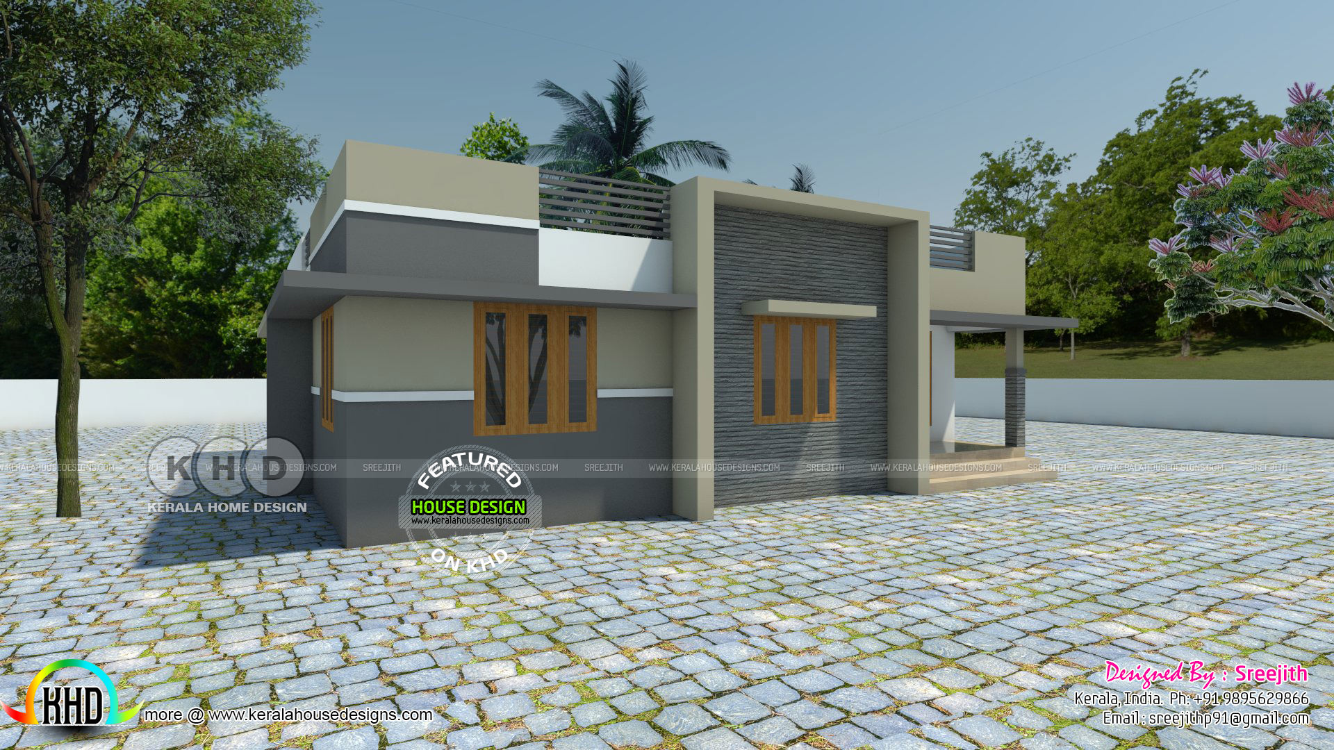 1276 square feet 3 bedroom flat roof budget home
