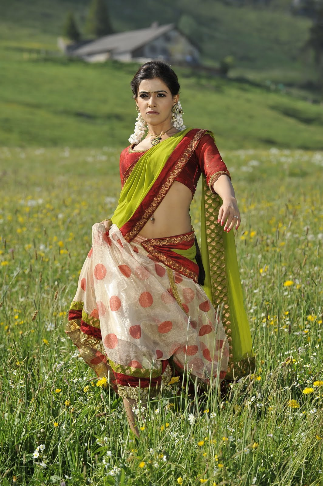 Samantha traditional look hot expression from dookudu