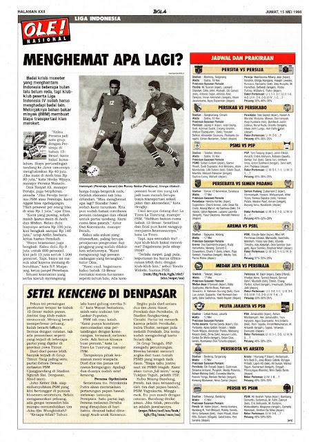LIGA INDONESIA 1998 MENGHEMAT APA LAGI
