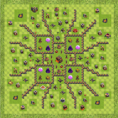 War Base Town Hall Level 10 By roguemanx (Spread out TH 10 Layout)