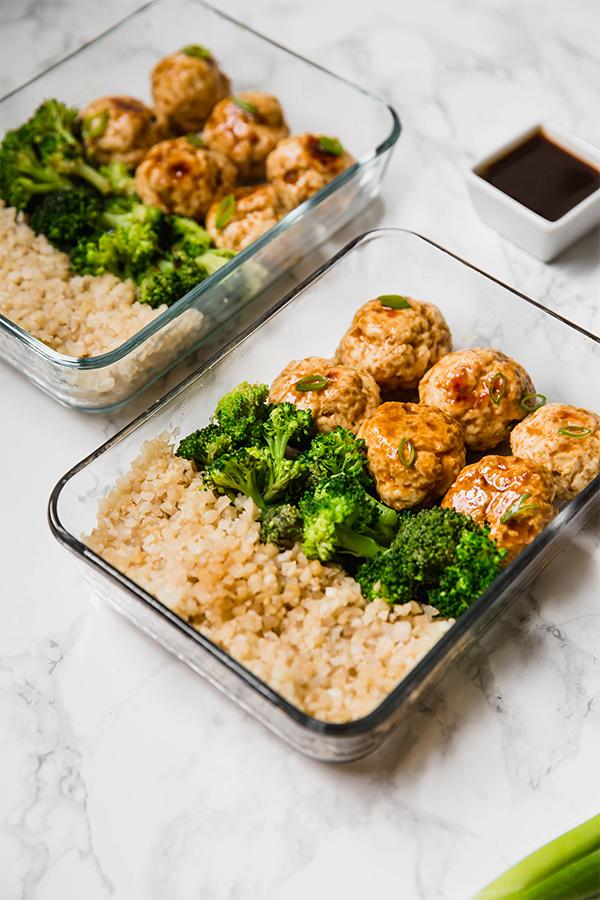 Teriyaki Chicken Meatball Meal Prep (Paleo, Whole30, AIP)