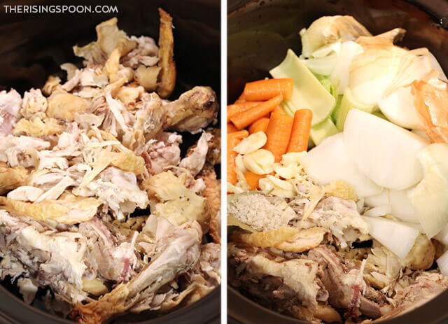 How to Make Slow Cooker Chicken Bone Broth