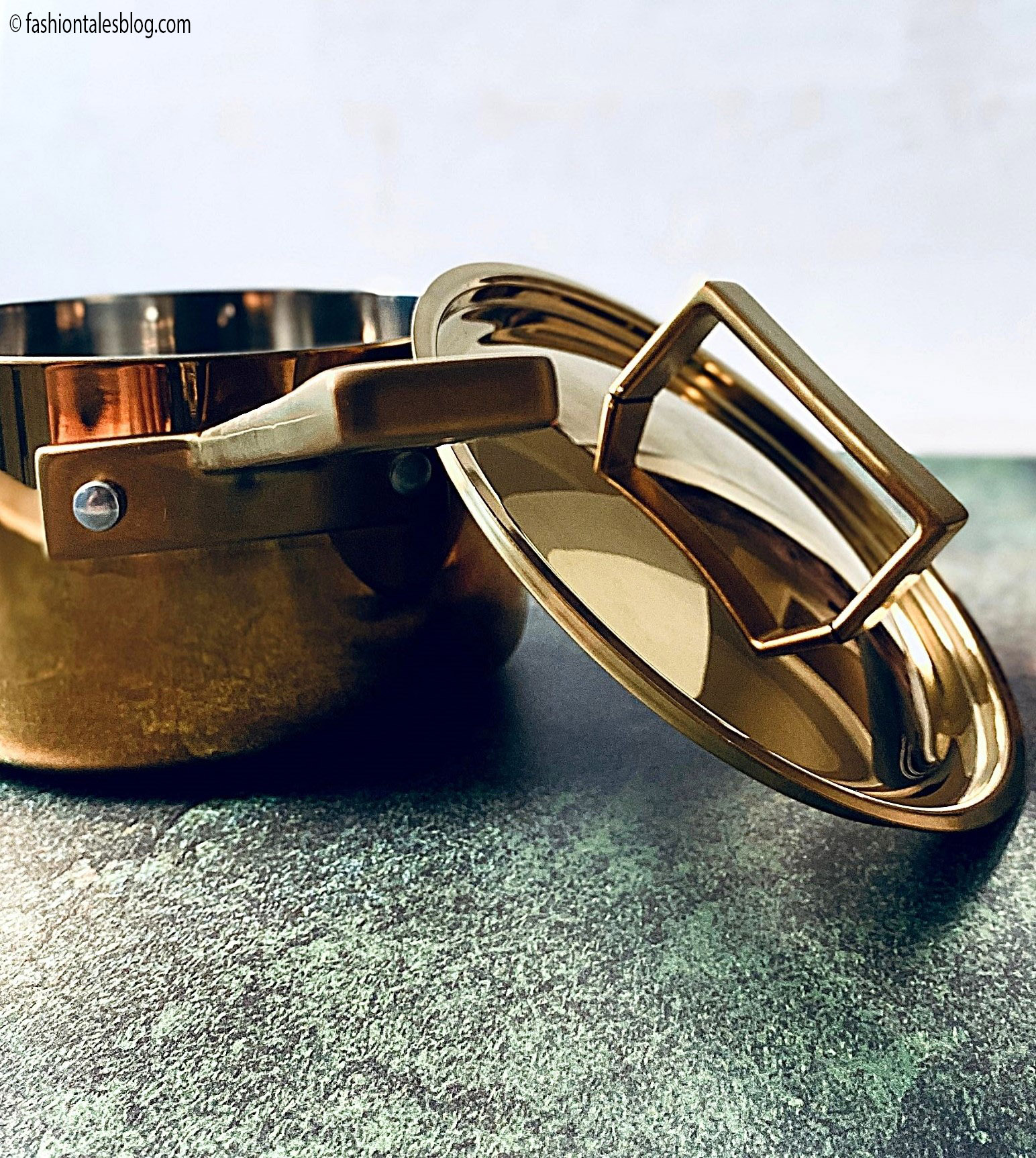 Gold luxury cookware