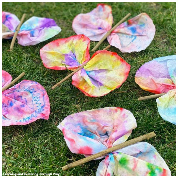 Filter Paper Butterfly Craft