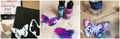 Tim Holtz Sizzix Tattered Butterfly Distress Oxide Sprays Alcohol Pearls Tutorial by Sara Emily Barker https://frillyandfunkie.blogspot.com/2019/03/saturday-showcase-tim-holtz-tattered.html 13