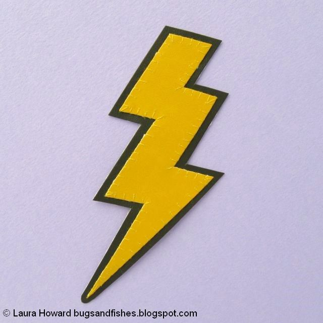 vegan leather lightning bolt brooch tutorial: cut out the brooch shape
