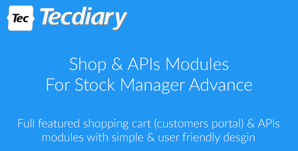 Stock Manager Advance with Point of Sale Module with Database Backup