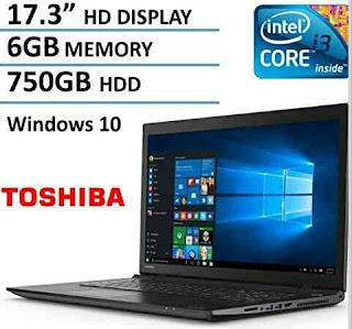 17.3-Inch Toshiba Satellite Laptop - Windows 10 Intel Core PC