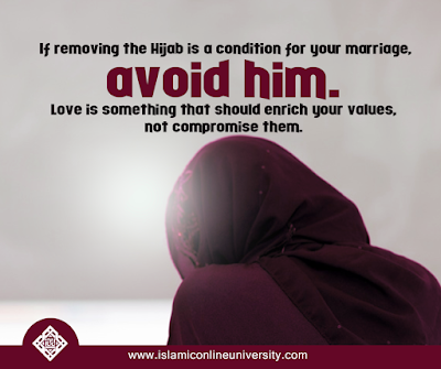 Love is something that should enrich your values, not compromise them.| Islamic Marriage Quotes by Ummat-e-Nabi.com