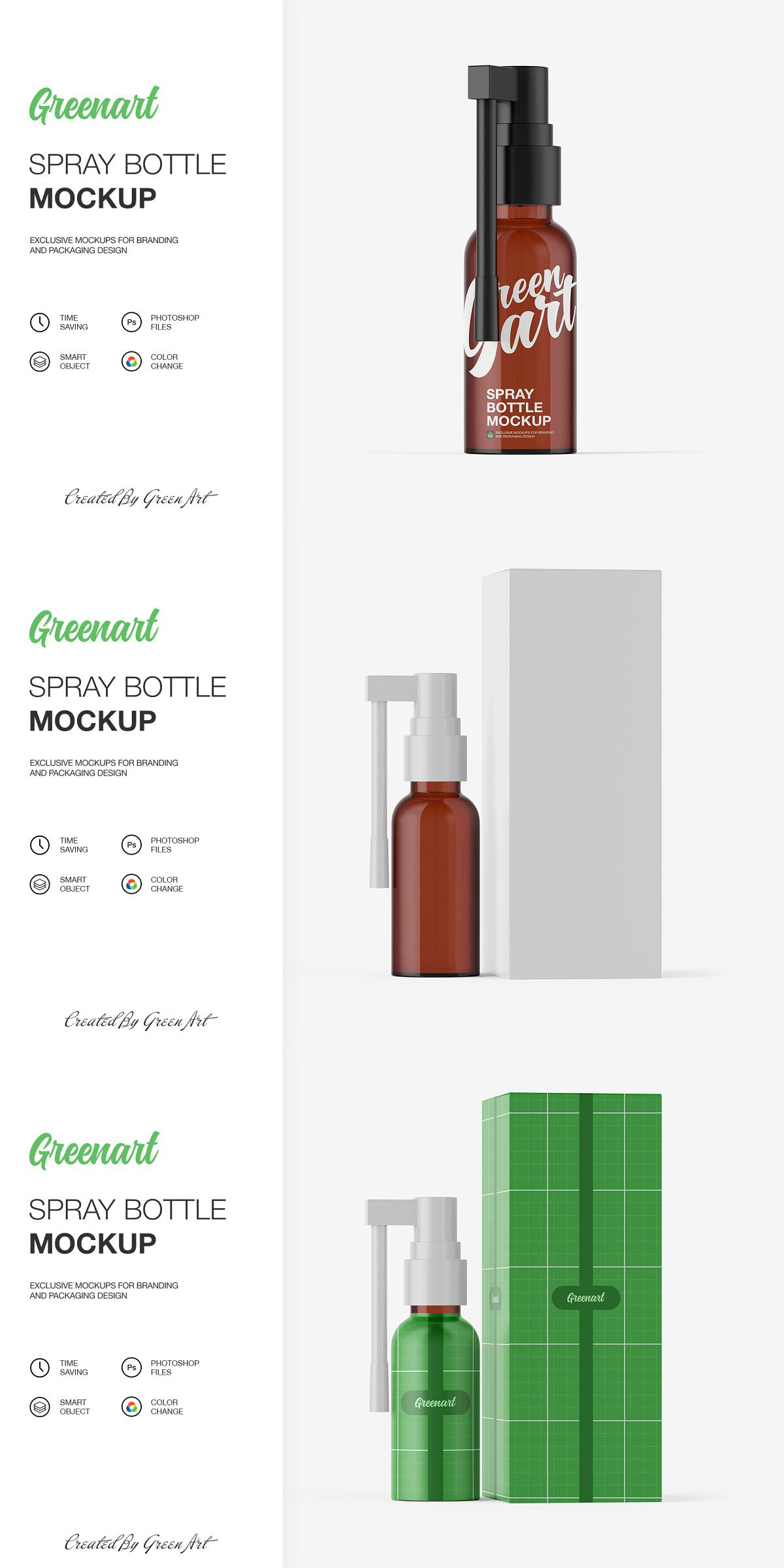 Spray Bottle W Kraft Box 2 Mockup 2381901 Free Download