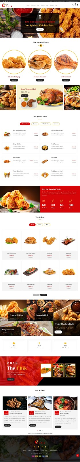 Food Shop, Restaurant Shopify Theme