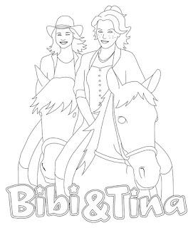 bibi und tina ausmalbilder, malvorlagen zum ausmalen - ausmalbilder, malvorlagen kostenlos