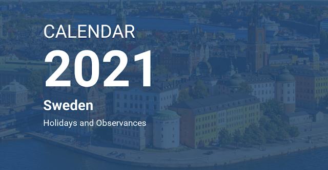 SWEDEN PUBLIC HOLIDAYS 2021