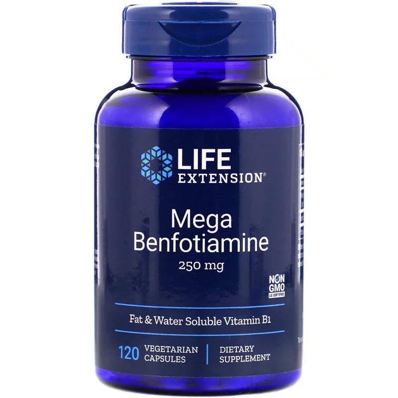 Life Extension, Mega Benfotiamine, 250 mg, 120 Vegetarian Capsules