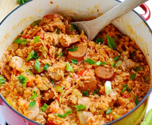 Sausage & Chicken Cajun Jambalaya #dinner #recipe