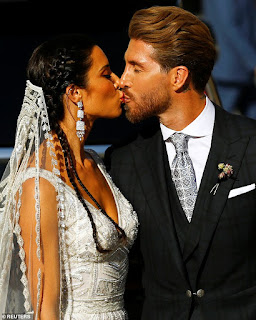 Photos from Footballer Sergio Ramos' wedding