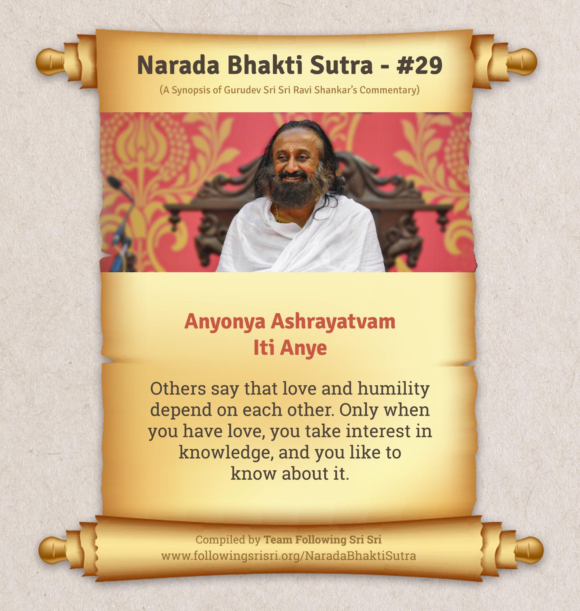 Narada Bhakti Sutras - Sutra 29