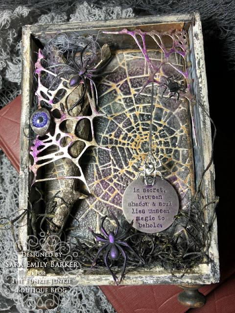 Sara Emily Barker https://sarascloset1.blogspot.com/2020/09/between-shadow-and-soul-spooky-vignette.html Mixed Media Tutorial 1