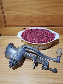 cranberry salad and Universal food grinder