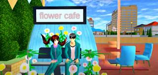 ID Flower Cafe Di Sakura School Simulator