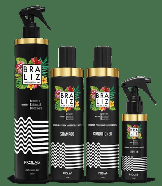 Gamme Braliz, avec spray Professionnel et le Kit de 3 produits d'entretien à la maison.
