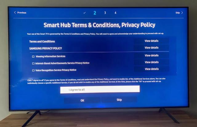 cara setup smart tv samsung