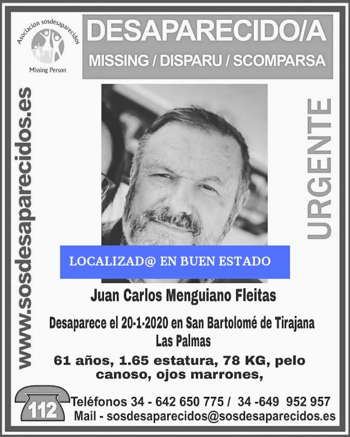 Localizan en buen estado desaparecido San Bartolomé de Tirajana