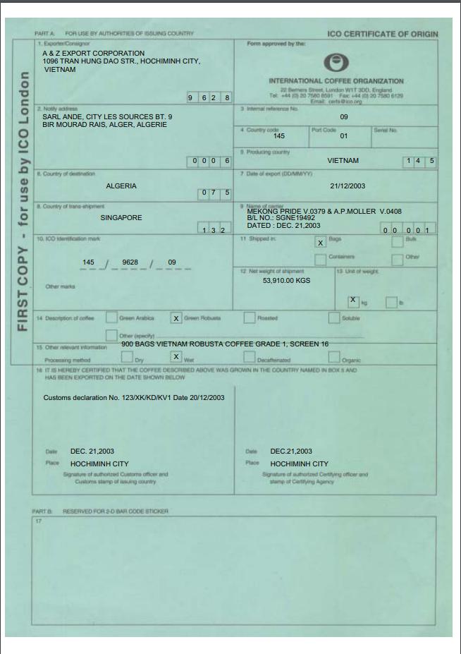 mẫu C/O form ICO
