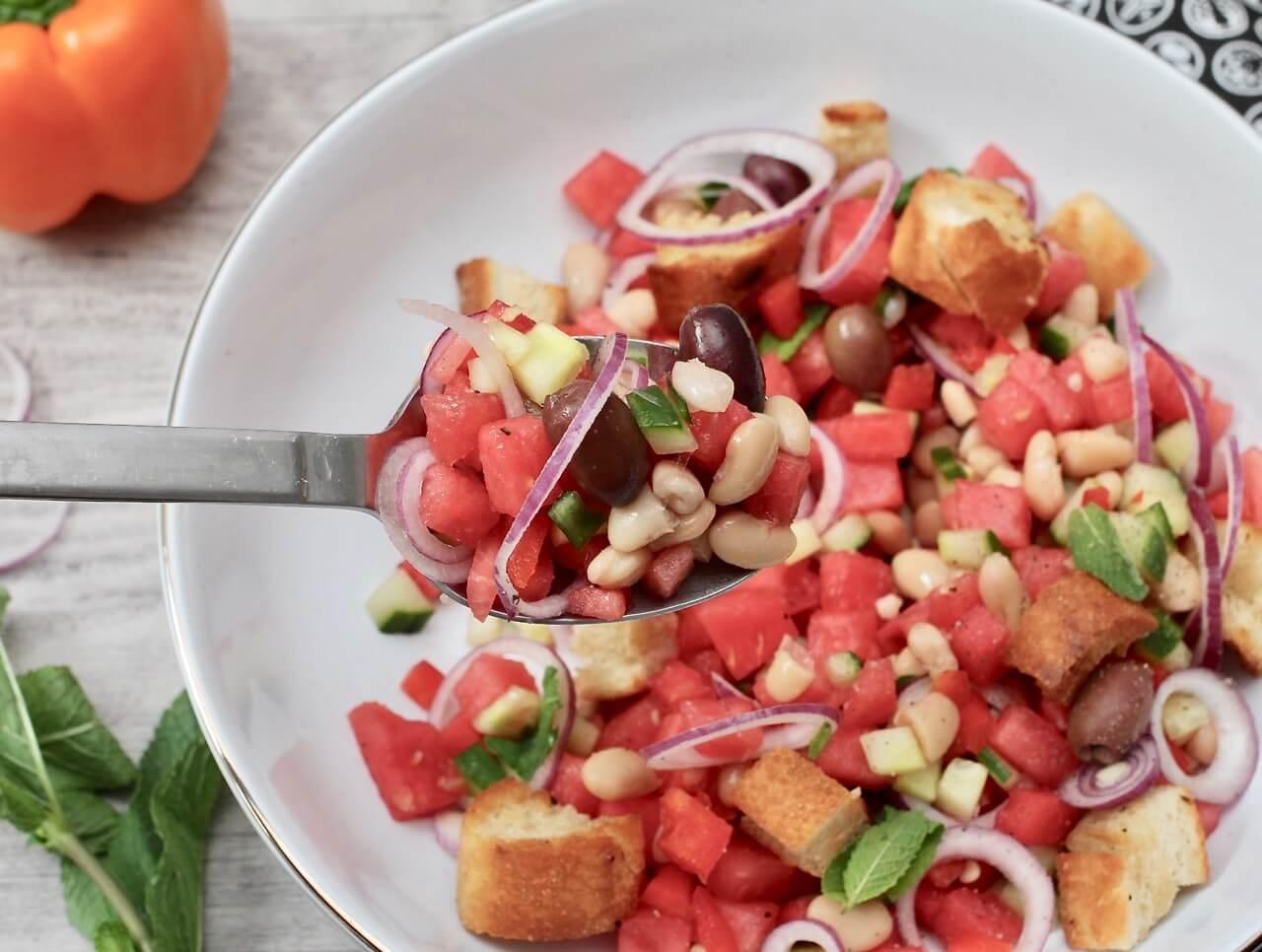 Wassermelonen Panzanella