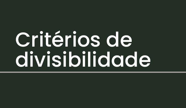 Atividade sobre Critérios de divisibilidade (Matemática) com Gabarito