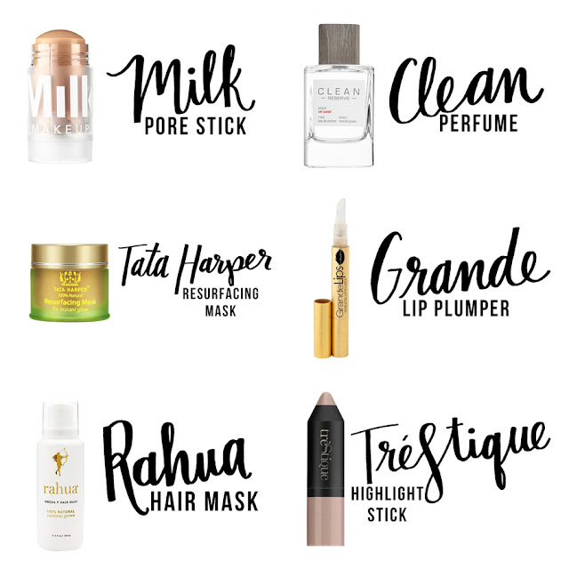 Beauty Blogger, College Blogger, Lifestyle Blogger, Beauty Subscription Box, Beauty Box, Milk Pore Stick, Clean Perfume, Tata Harper Resurfacing Mask, Grande Lip Plumper, Rahua Hair Mask, Trestique Highlight Stick
