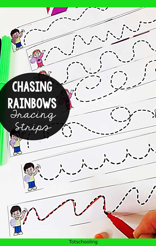 FREE printable prewriting activity for preschool, pre-k and kinder kids to practice fine motor skills. Perfect tracing activity for Spring or St. Patrick's Day!