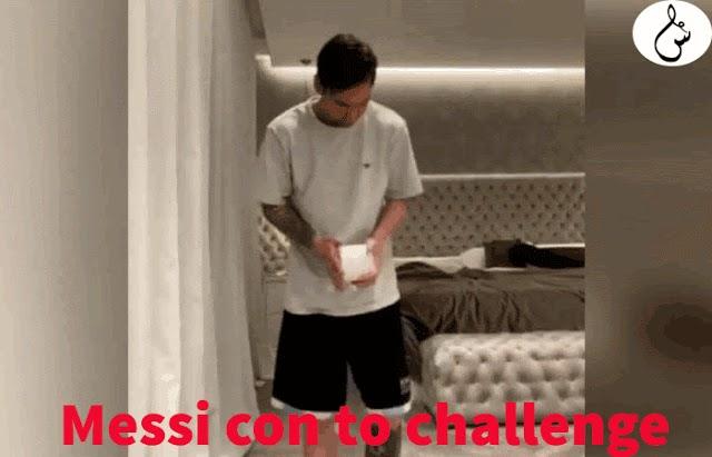 فيديو: ميسي وباقي لاعبين يقومون بتحدي المنديل والبقاء في المنزل