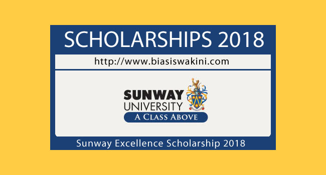 Sunway Excellence Scholarship 2018