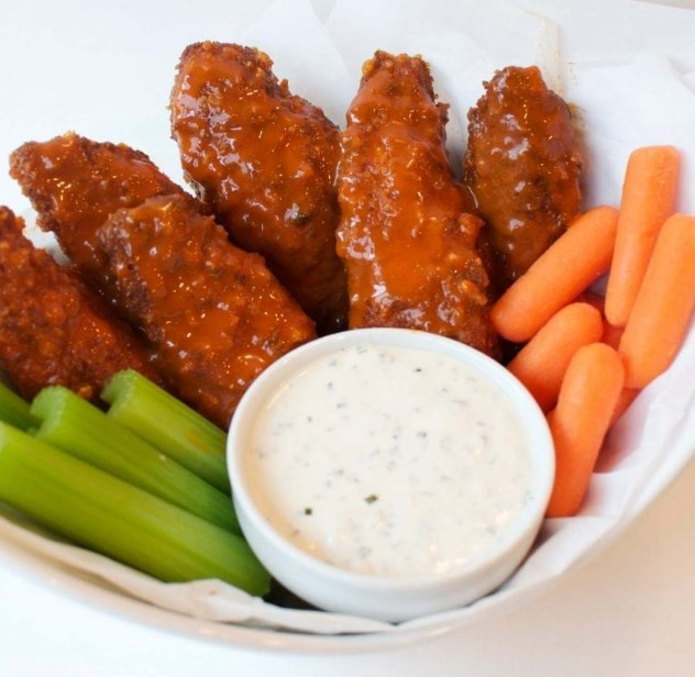 Buffalo Chicken Strips with Buffalo Ranch #healthy #keto