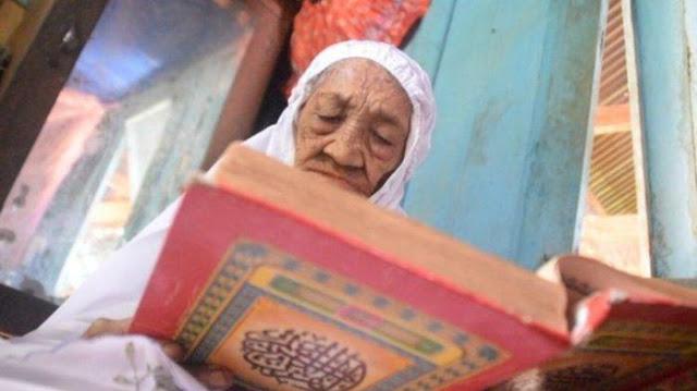 Masih Sehat di Usia 110 Tahun, Nenek Ini Tak Pernah Tinggalkan Shalat, Mengaji, dan Berzikir