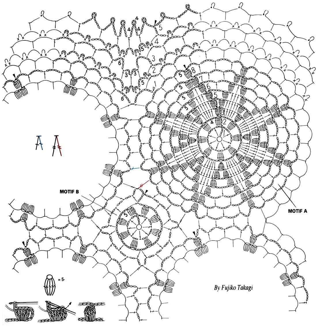 ergahandmade: Crochet Christmas Shawl + Diagrams