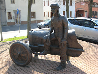 The monument to Tazio Nuvolari in Castel d'Ario