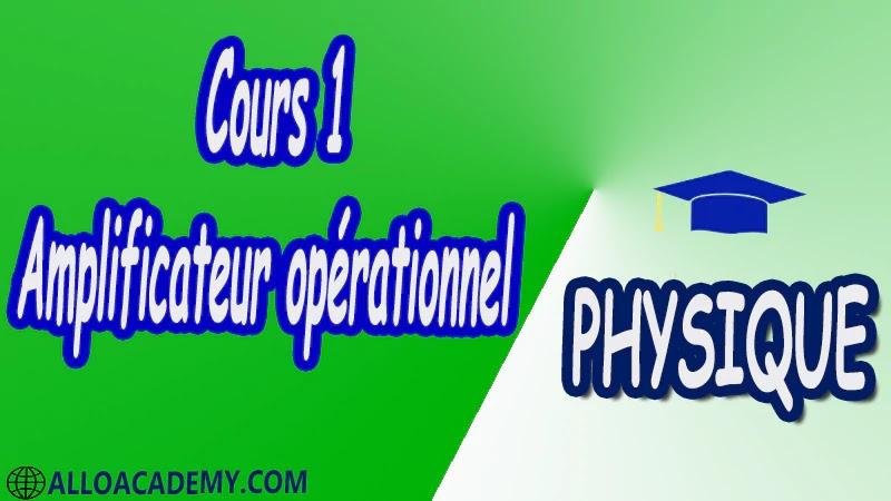 Cours 1 Amplificateur opérationnel pdf