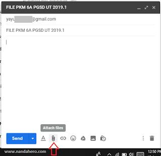 cara mengirim file lewat email laptop