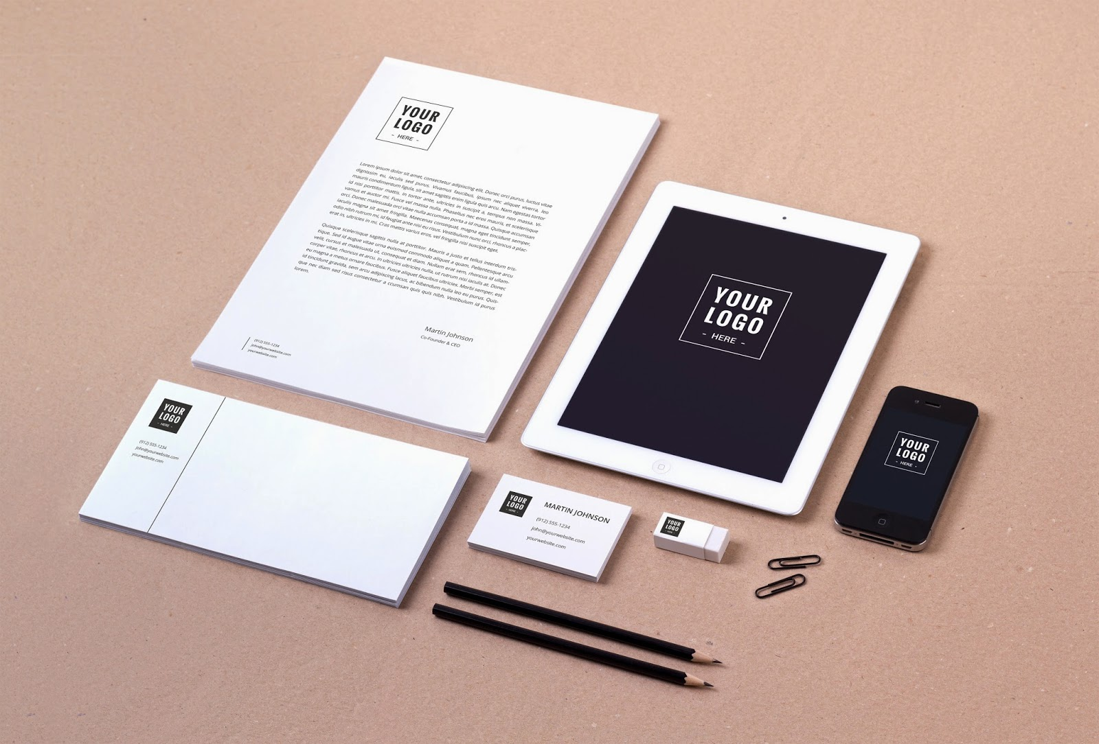 95 free stationery branding mockup psd for identity designs
