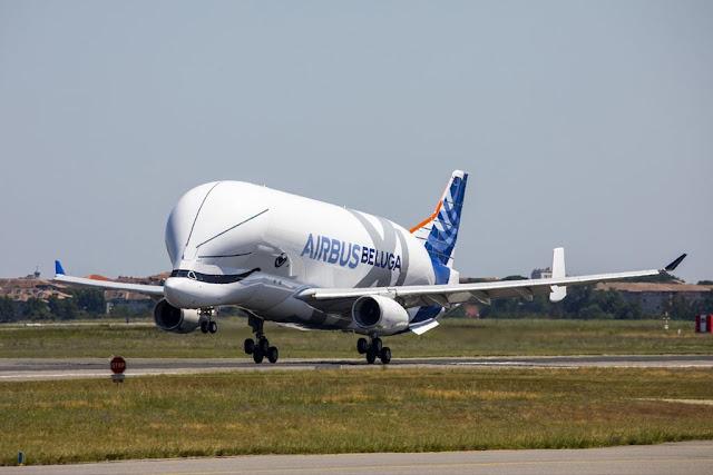 First BelugaXL makes maiden flight