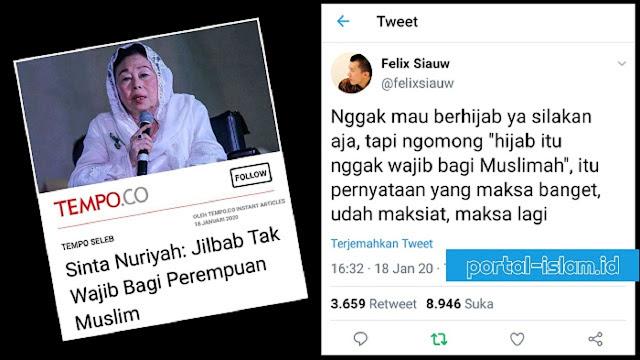 Felix Siauw: Gak Mau Berhijab Ya Silakan... Tapi Jangan Maksa Bilang Hijab Gak Wajib