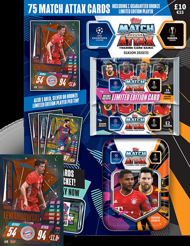 Topps Match Attax Champions League 2020//2021 Multipack 20//21 Limitierte Karte